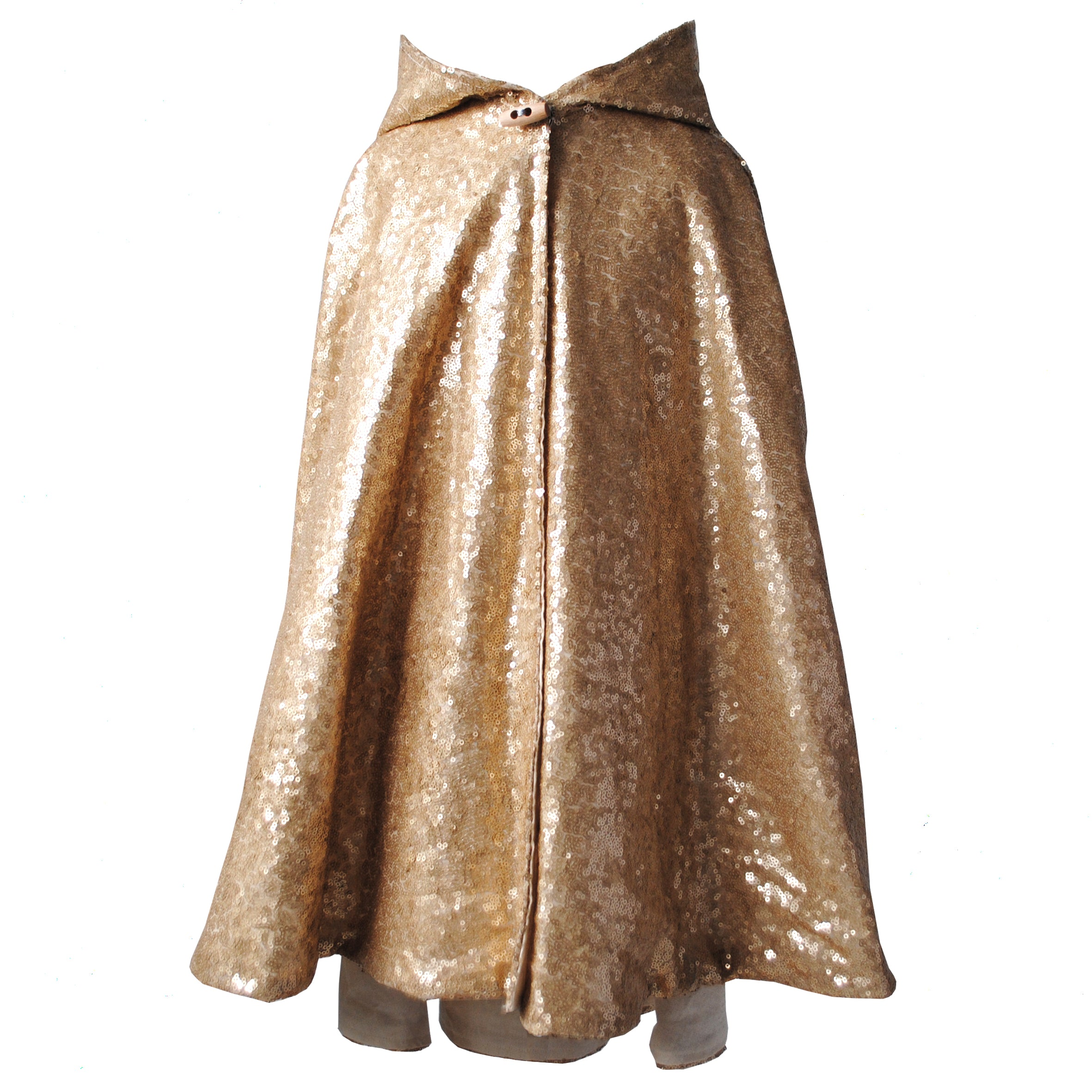 Fable Heart Matte Gold Hooded Cape