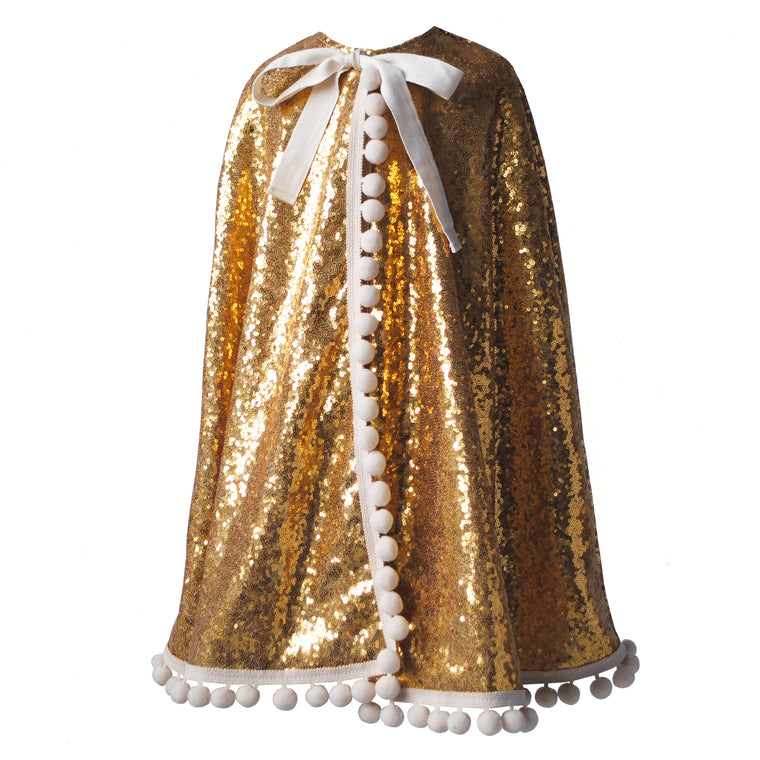 Kings Gold Pom Pom Cape