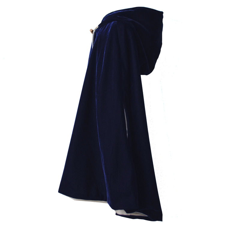 Fable Heart Navy Velvet Hooded Cape lifestyle image
