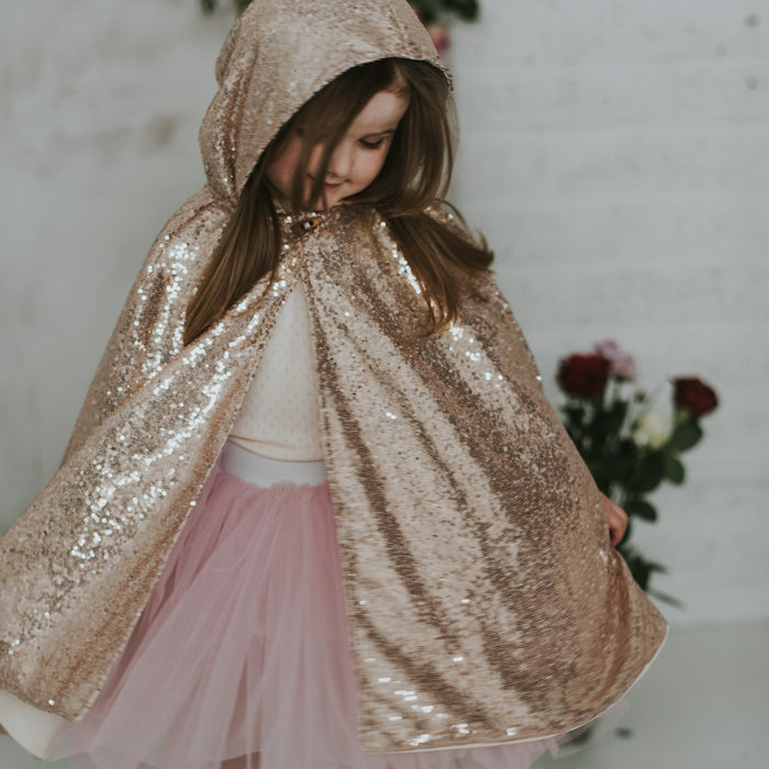 Rose Gold Hooded Cape