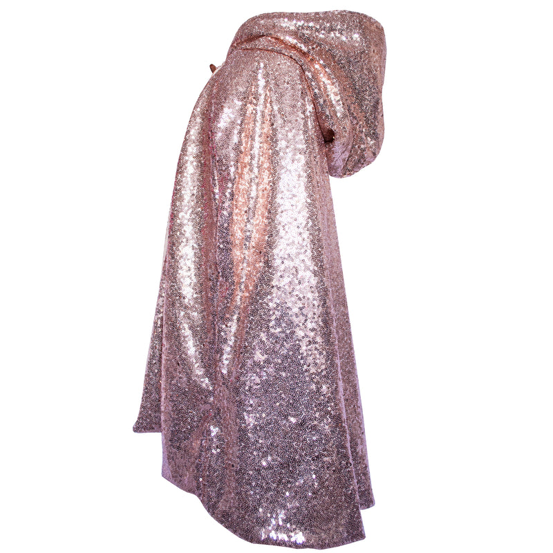 Rose Gold Hooded Cape (Sample)