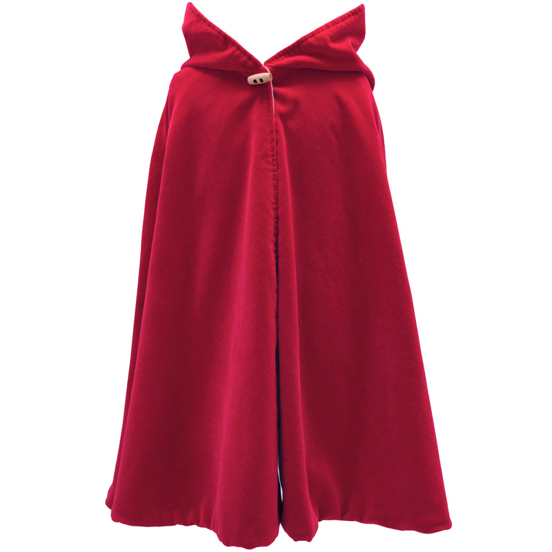 Cherry Red Hooded Cape