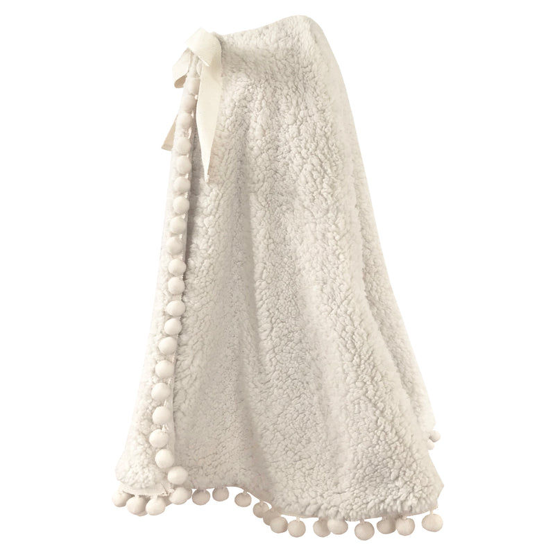 Fable Heart Lana Pom Pom Cape side view