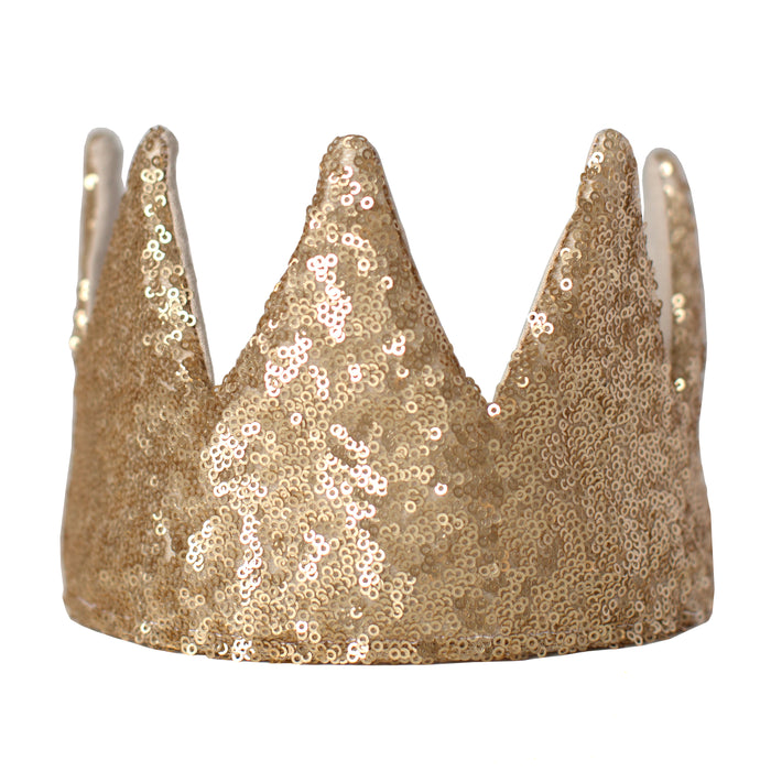 Fable Heart Matte Gold Crown - the classic golden crown, in a luxurious matte finish