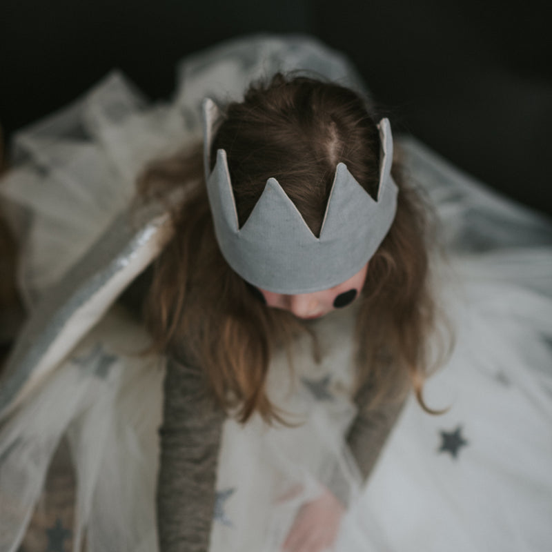 Fable Heart Grey Corduroy Crown lifestyle image