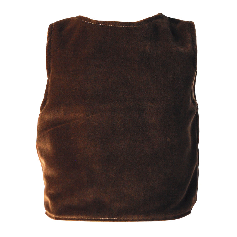 Fable Heart Caramel Velvet Peasant Smock Top lifestyle image