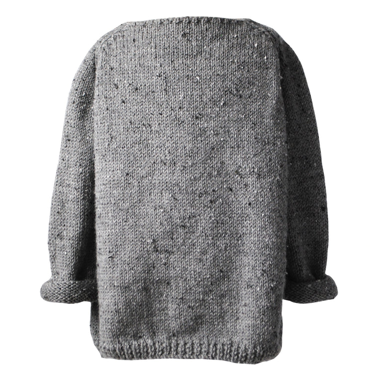 Charcoal Peasant Hand Knitted Jumper