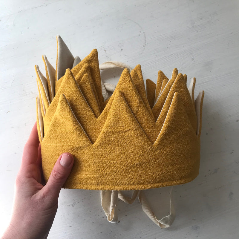 Mustard Irish Linen Crown