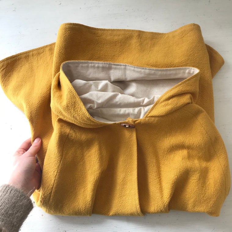 Mustard Hooded Cape