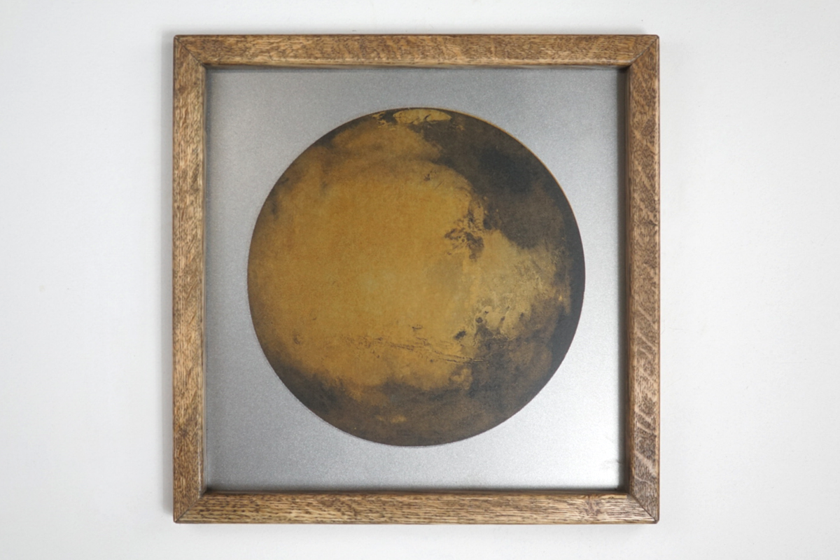 Rusted Mars on Steel Sheet Metal