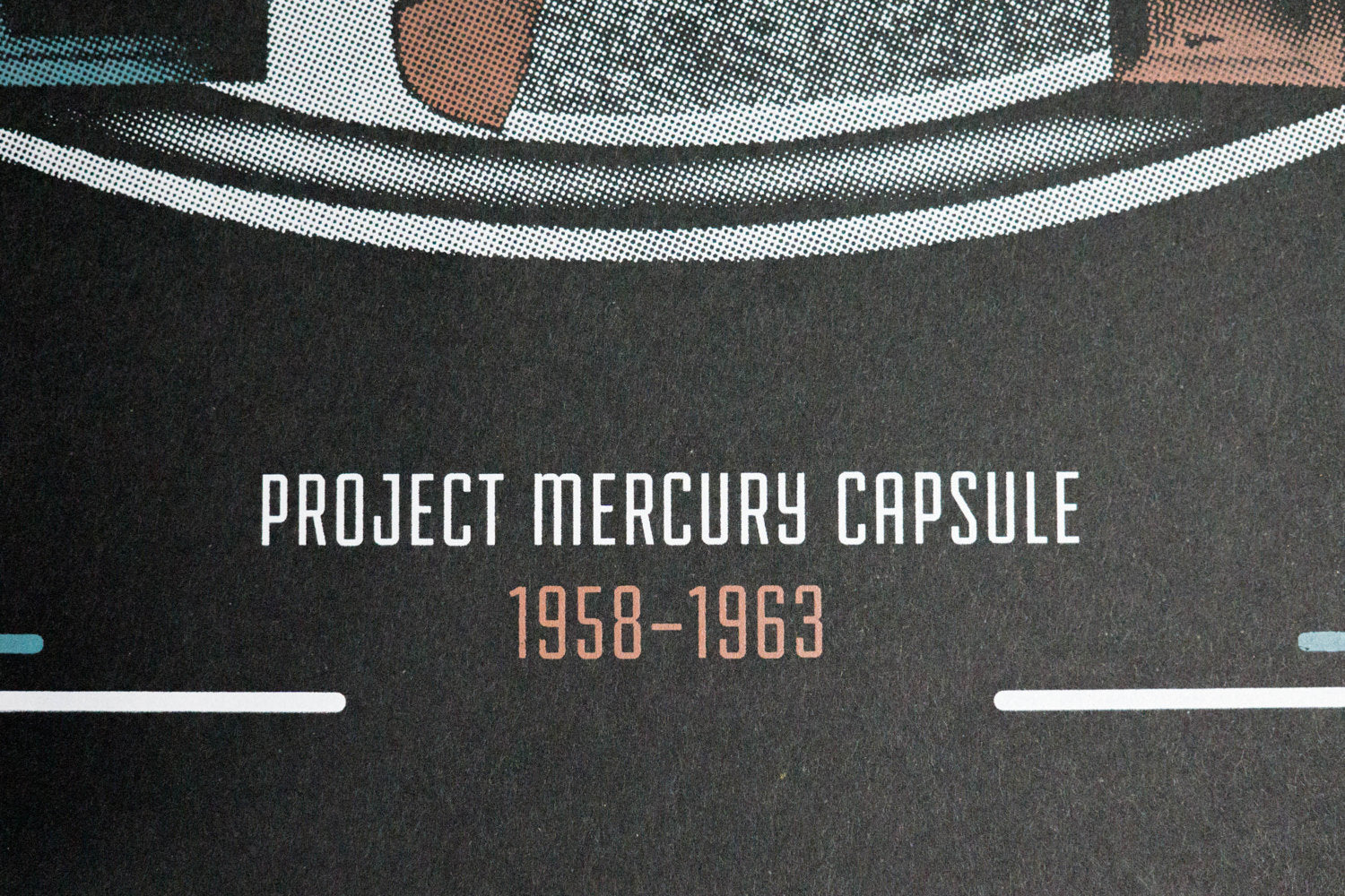Project Mercury Capsule - Space Exploration Poster