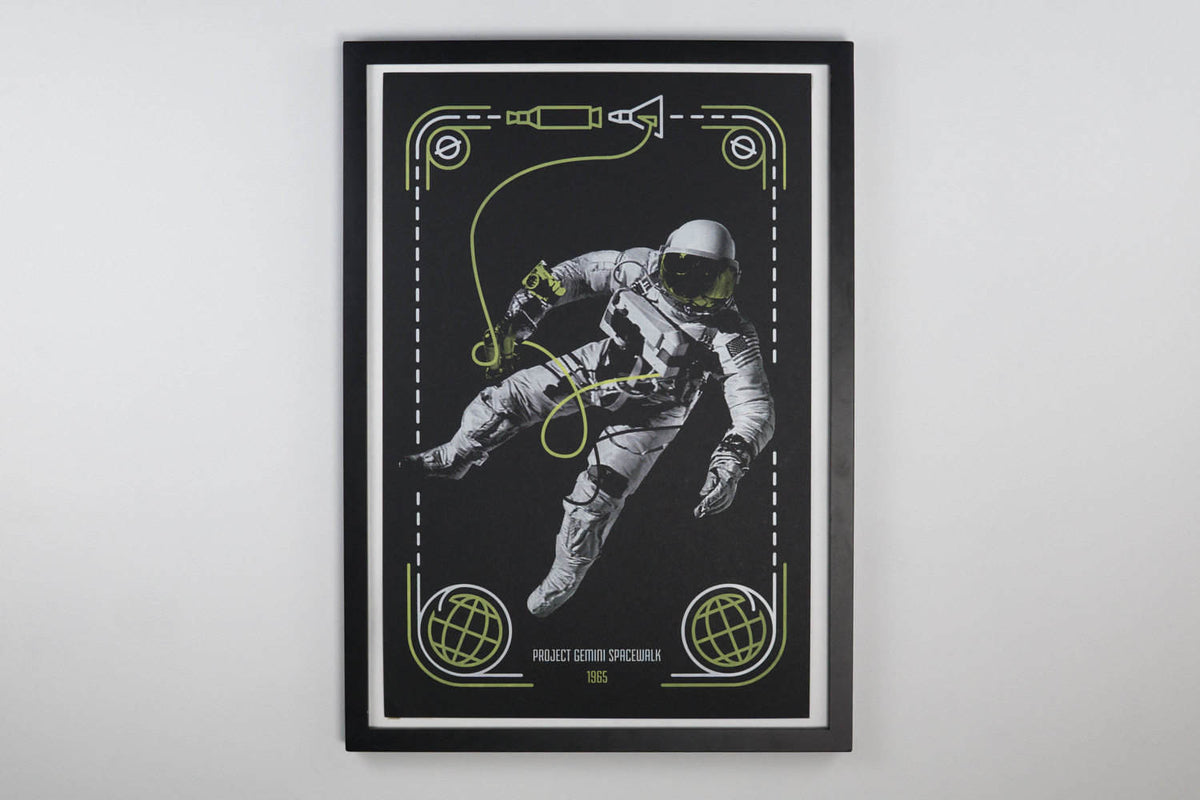 Project Gemini Spacewalk - Space Exploration Poster