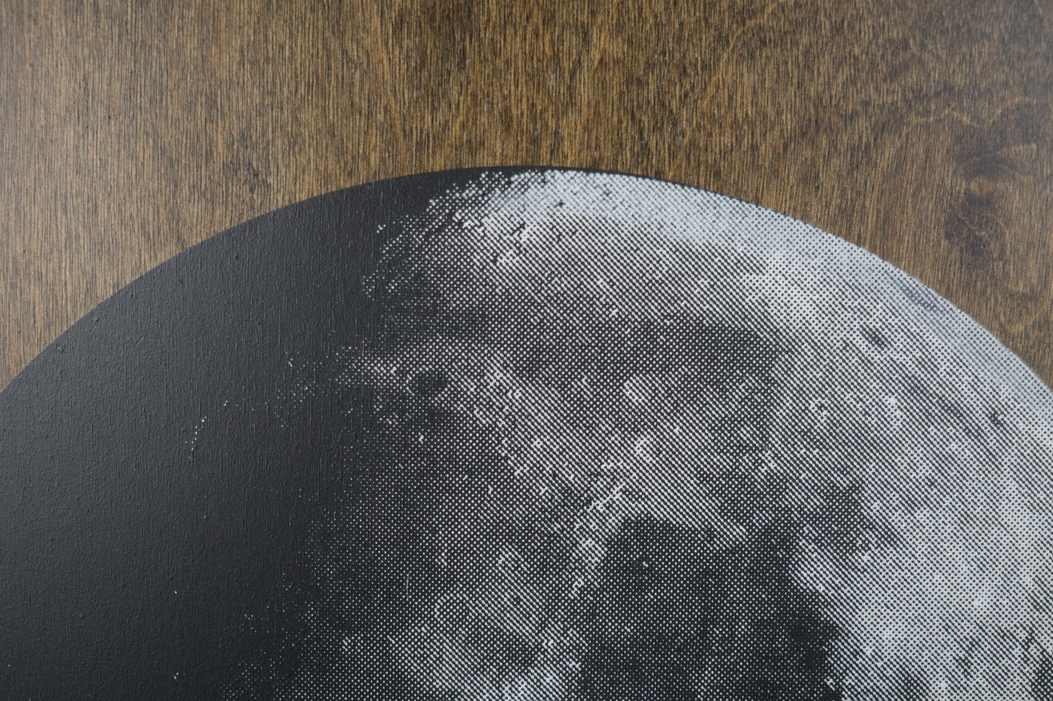 Moon on Stained Birch Plywood
