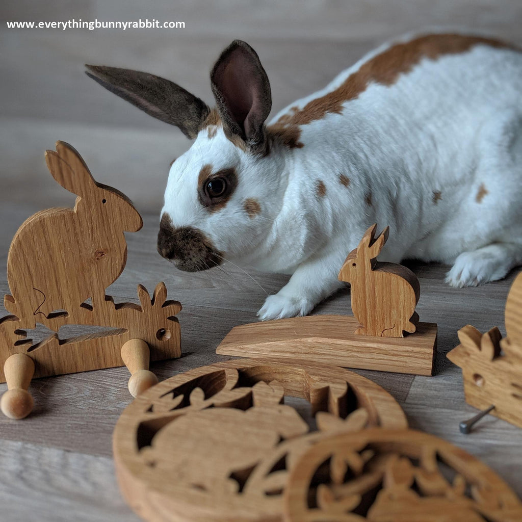 * BACK IN STOCK * RABBIT THEMED RECLAIMED OAK GIFTS