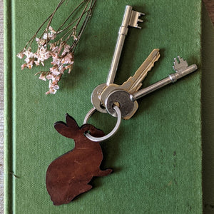 Leather Rabbit Key Ring - Everything Bunny Rabbit