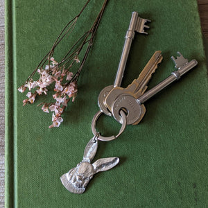 Pewter Rabbit Key Ring - Everything Bunny Rabbit