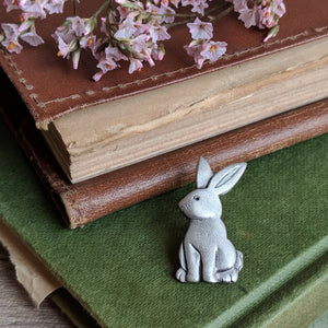 Rabbit Pewter Pin | Everything Bunny Rabbit - Everything Bunny Rabbit
