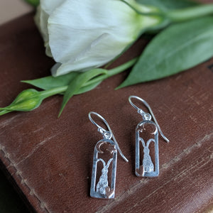 Rabbit Earrings [Rose Gold Moon and Star] - Everything Bunny Rabbit