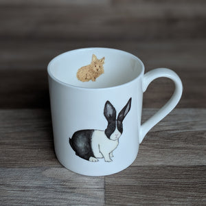Rabbit Mug [Rabbits leave paw prints on your heart] - Everything Bunny Rabbit