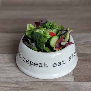 Eat Sleep Poo Repeat Pet Bowl