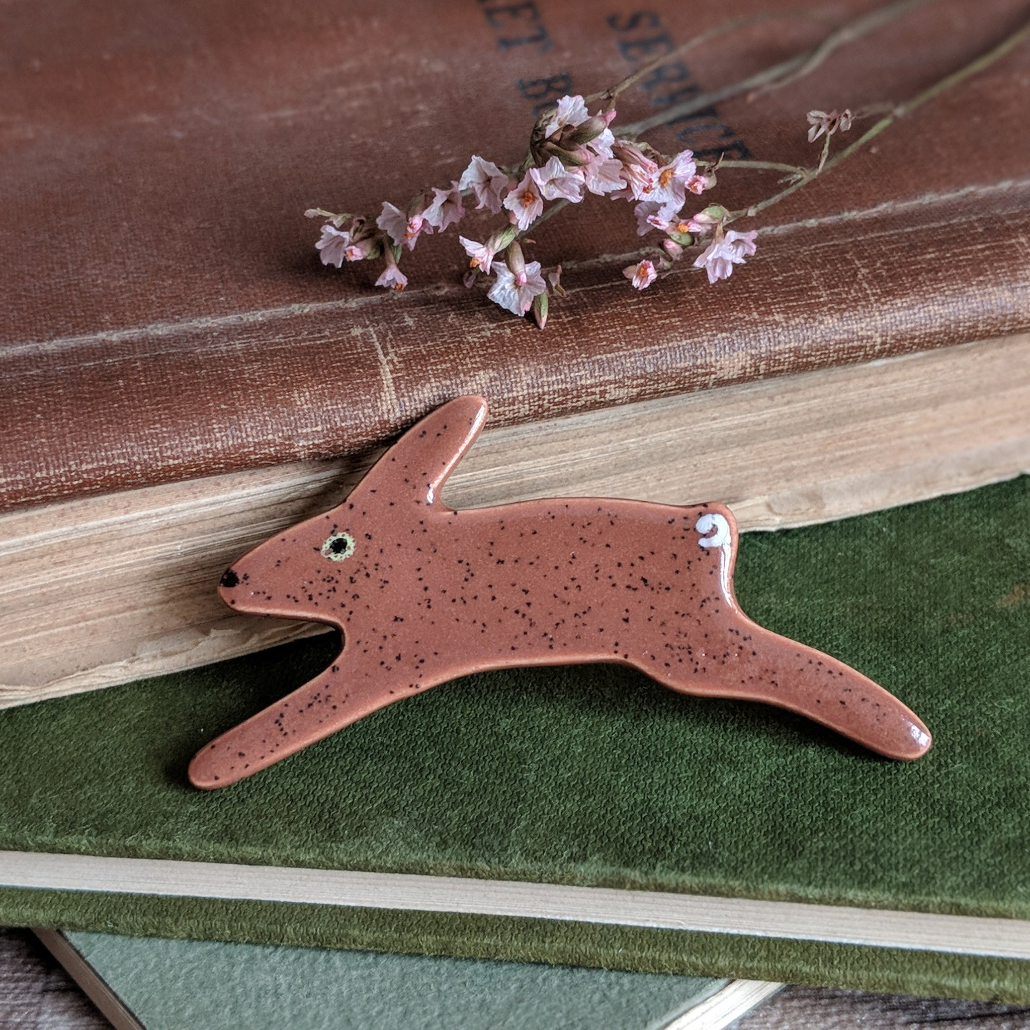 Ceramic Rabbit Brooch - Everything Bunny Rabbit
