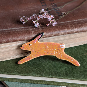 Ceramic Rabbit Brooch