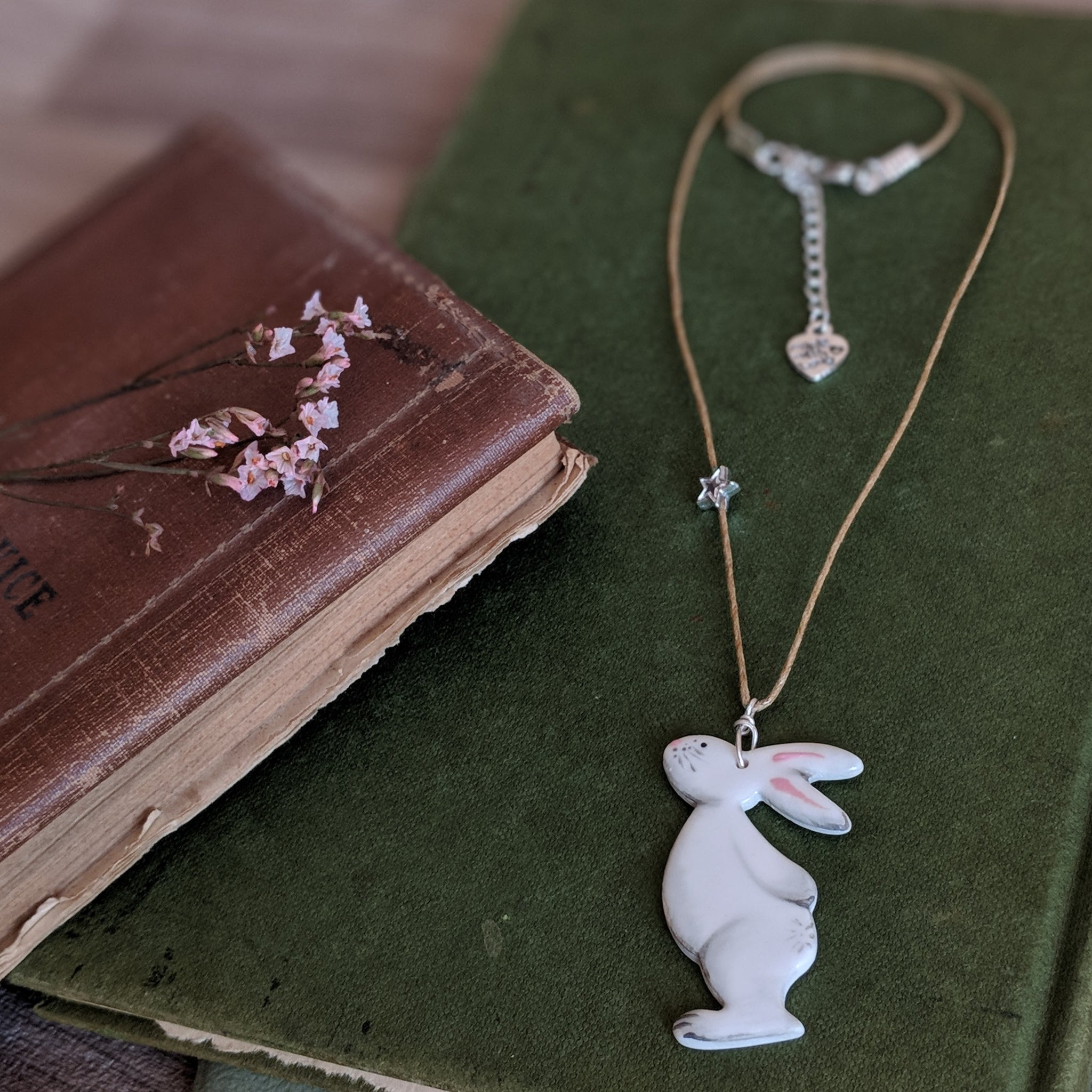 Bunny and Star Necklace - Grey - Everything Bunny Rabbit