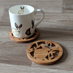 Oak Rabbit Coaster