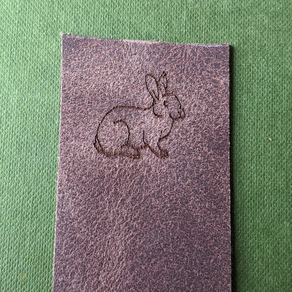 Rabbit Book Mark - Brown Leather - Everything Bunny Rabbit