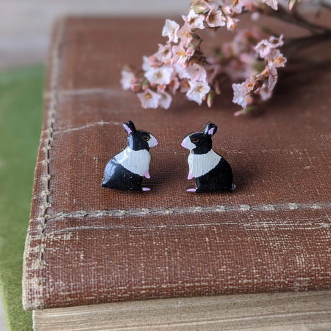Rabbit Stud Earrings - Dutch - Everything Bunny Rabbit