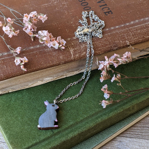 Rabbit Necklace - Grey - Everything Bunny Rabbit