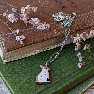 Rabbit Necklace - Brown English Spot - Everything Bunny Rabbit