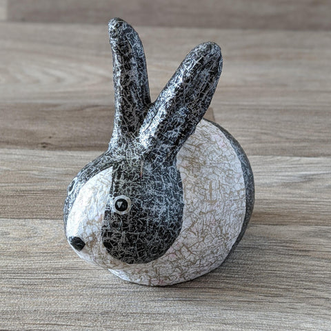 Decopatch a Ceramic Rabbit Ornament Craft Kit (Black & White) - Everything Bunny Rabbit