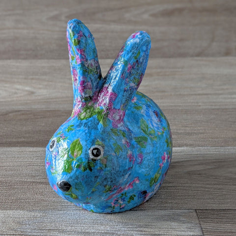 Decopatch a Ceramic Rabbit Ornament Craft Kit (Floral) - Everything Bunny Rabbit