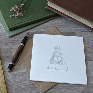 Rabbit Anniversary Card - Everything Bunny Rabbit