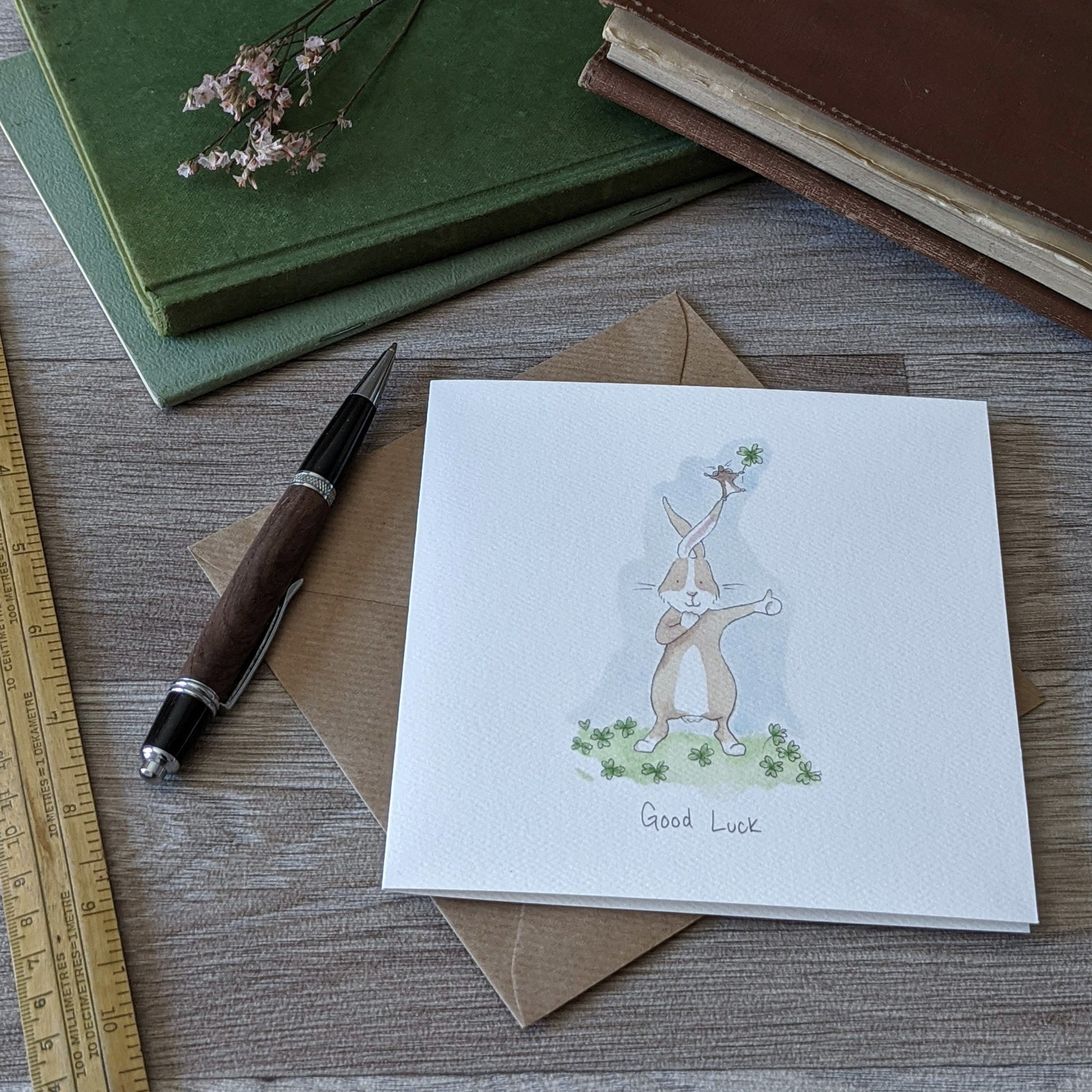 Good Luck Rabbit Card - Everything Bunny Rabbit