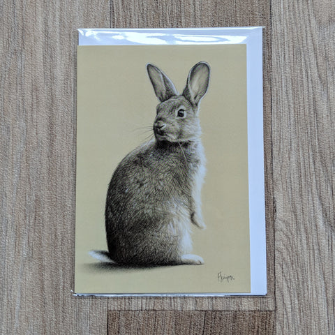 rabbit card - rabbit birthday card - bunny card