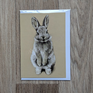 Rabbit Card - Rabbit Greeting Card - Rabbit Birthday card