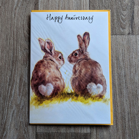 Rabbit Anniversary Card