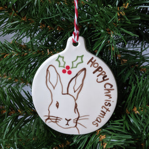 Rabbit Christmas Decoration - Everything Bunny Rabbit