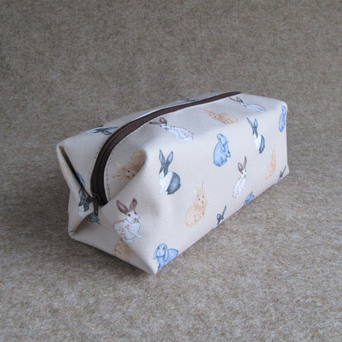 Rabbit Makeup Bag - Everything Bunny Rabbit - rabbit cosmetic bag - cosmetic bag
