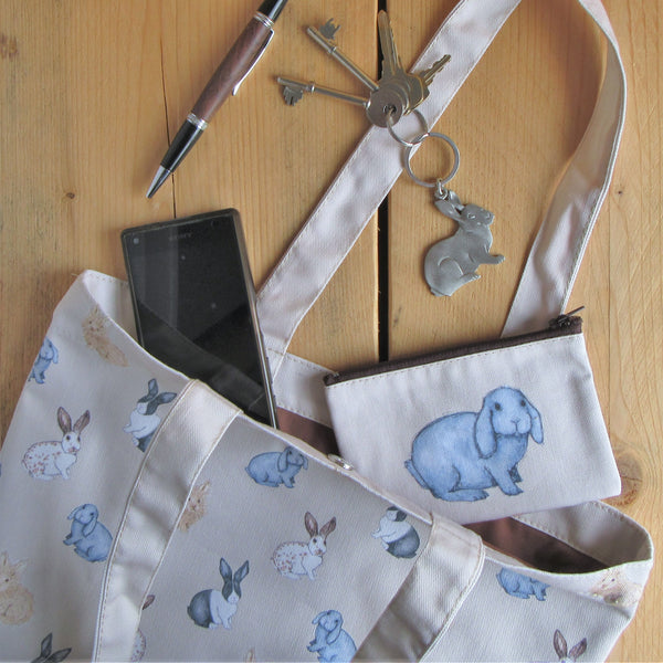 Rabbit Tote Bag | Everything Bunny Rabbit - Everything Bunny Rabbit