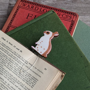 Rabbit Clip Book Mark (Brown English Spot) - Everything Bunny Rabbit