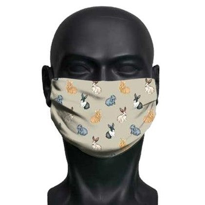 Rabbit Face Mask/Covering - Everything Bunny Rabbit