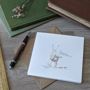 Rabbit Thank You Card - Everything Bunny Rabbit