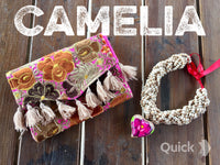 Mexican Embroidered Clutch Wristlet