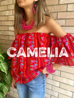 Dropped Shoulder Mexican Blouse
