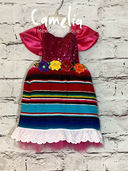 Sparkle Girl Mexican Dress