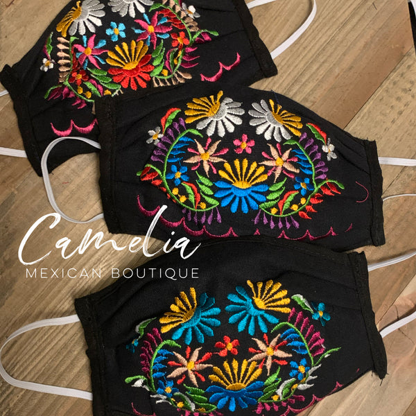 Mexican Embroidered Face Mask GARDEN