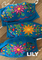 Mexican Embroidered Face Mask LILY